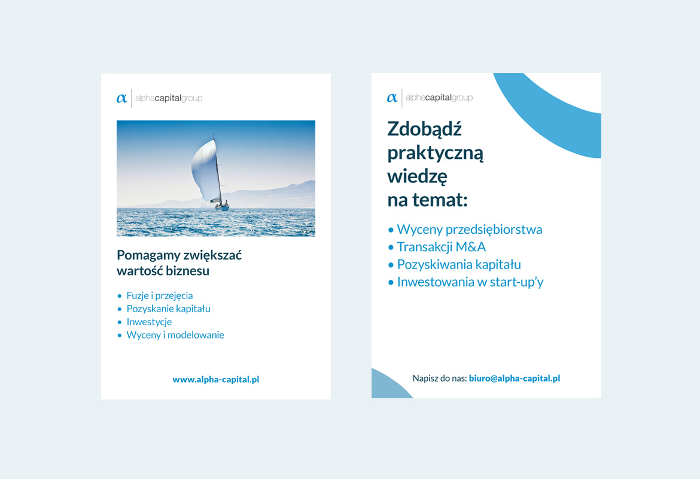 Alpha Capital Group_Art direction_Ulotka by Dawid Koniuszewski Design