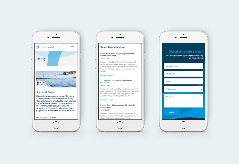Alpha Capital Group_Responsywna strona internetowa_telefon by Dawid Koniuszewski Design
