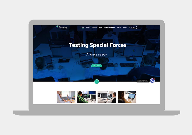 TestArmy_Strona internetowa by Dawid Koniuszewski Design