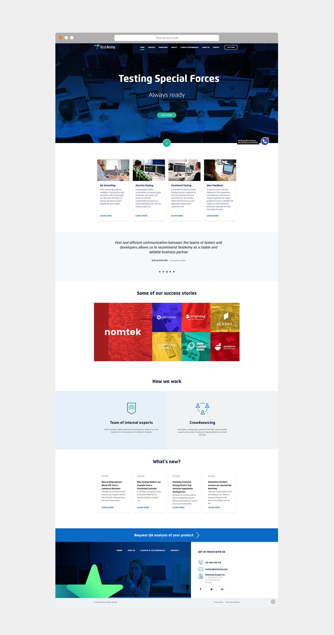 TestArmy_Strona www_by Dawid Koniuszewski Design