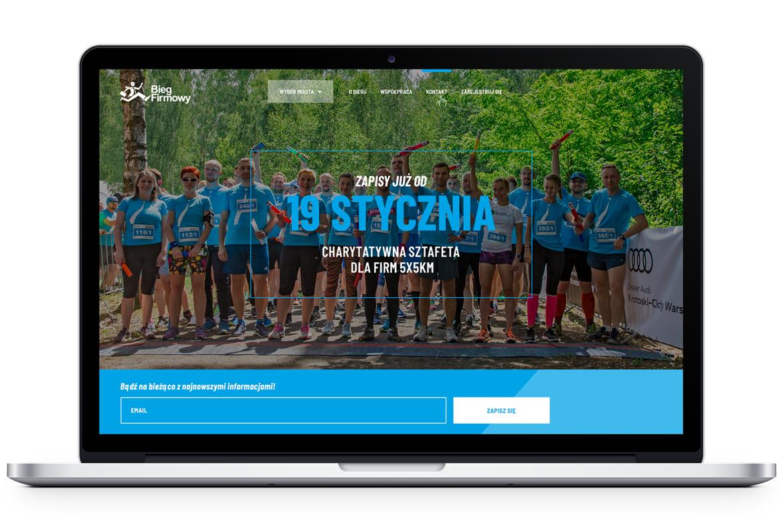 Bieg Firmowy_front page website by Dawid Koniuszewski Design
