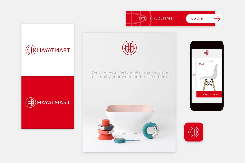 Hayatmart brand design by Dawid Koniuszewski Design
