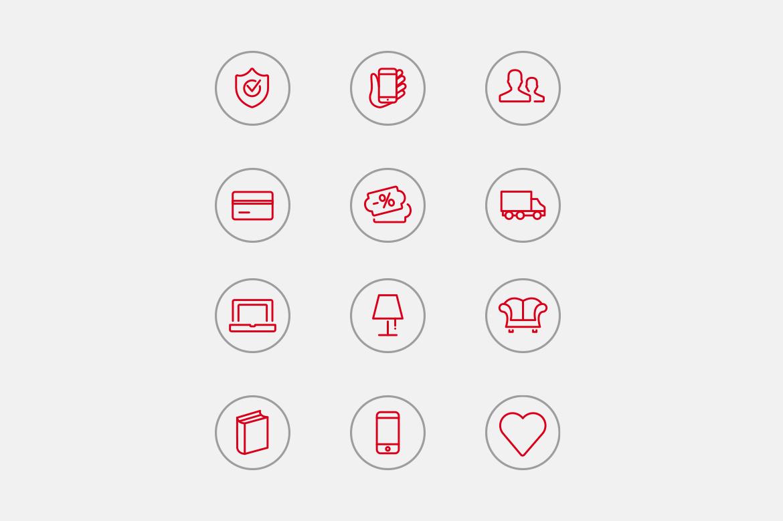 Hayatmart icons by Dawid Koniuszewski Design