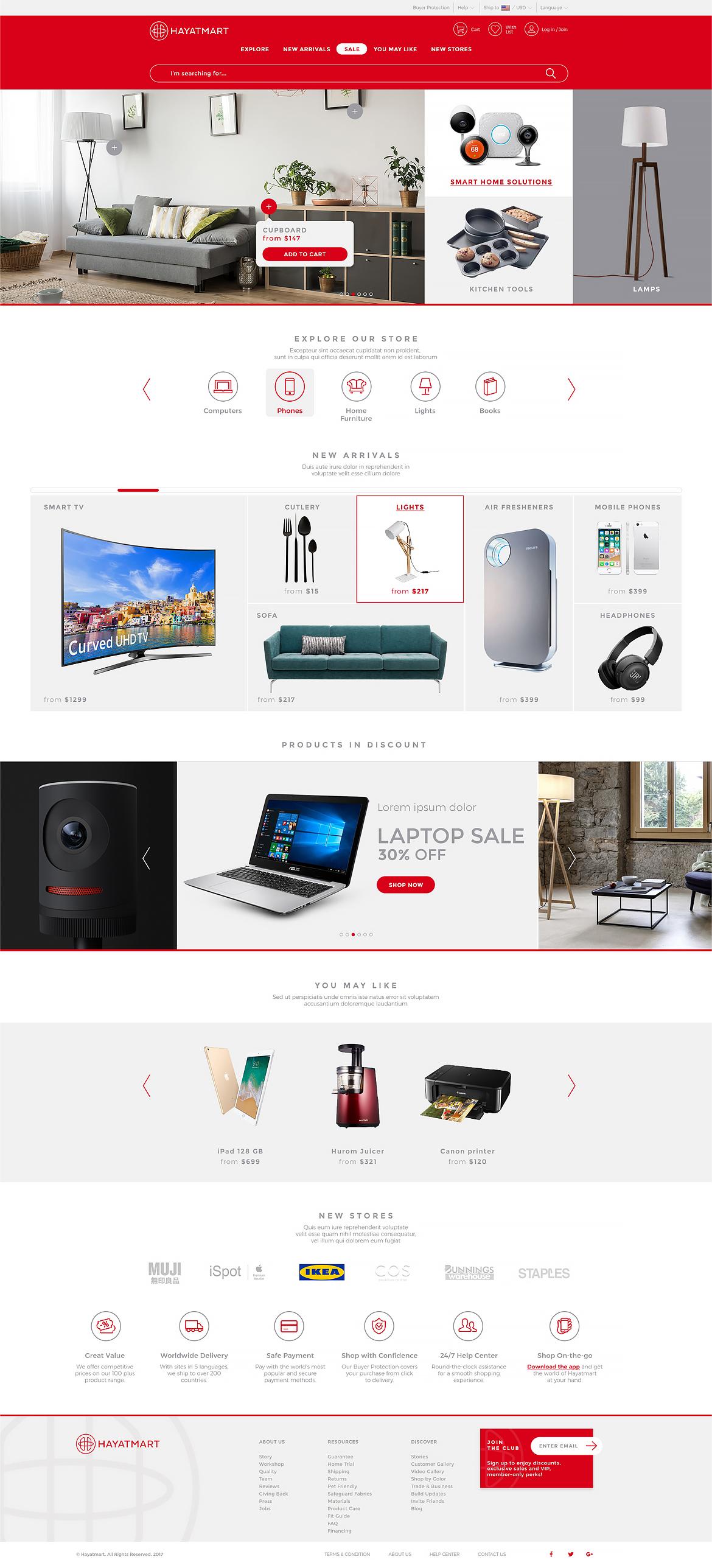 Hayatmart web design by Dawid Koniuszewski Design