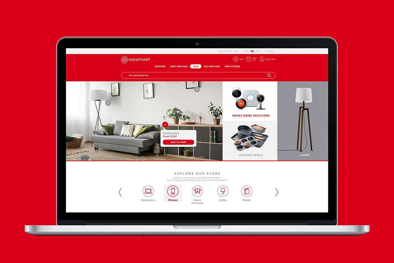 Hayatmart website by Dawid Koniuszewski Design