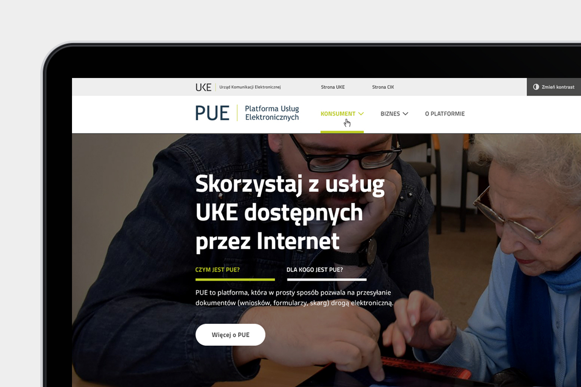 PUE Web design_Homepage by Dawid Koniuszewski Design_thumb
