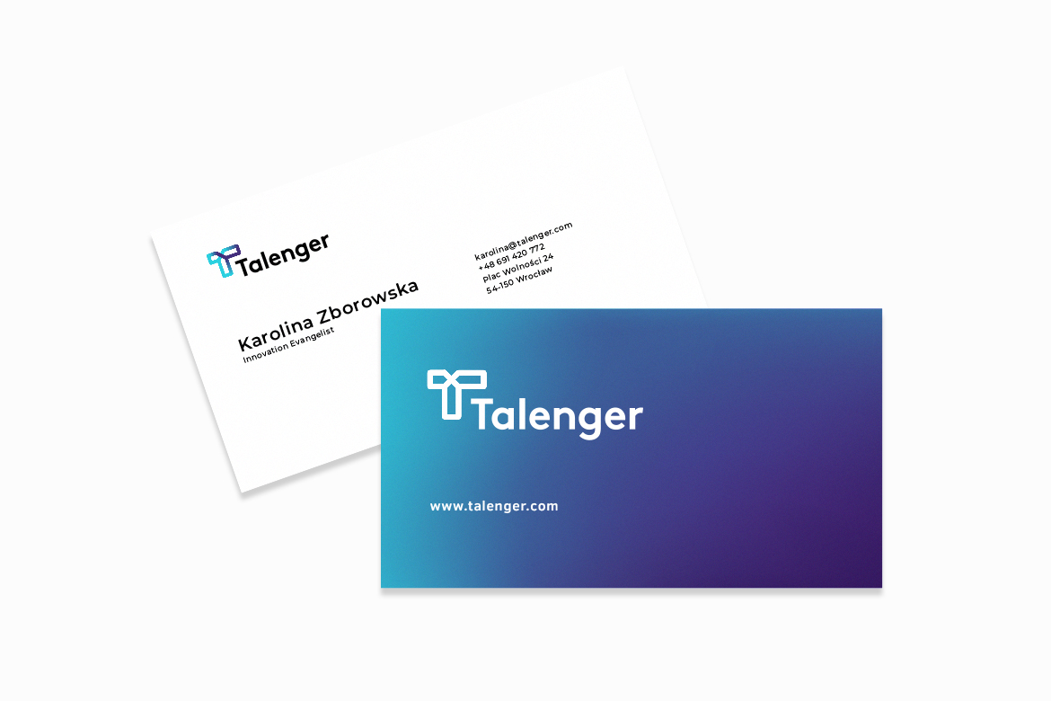 Talenger business cards by Dawid Koniuszewski Design