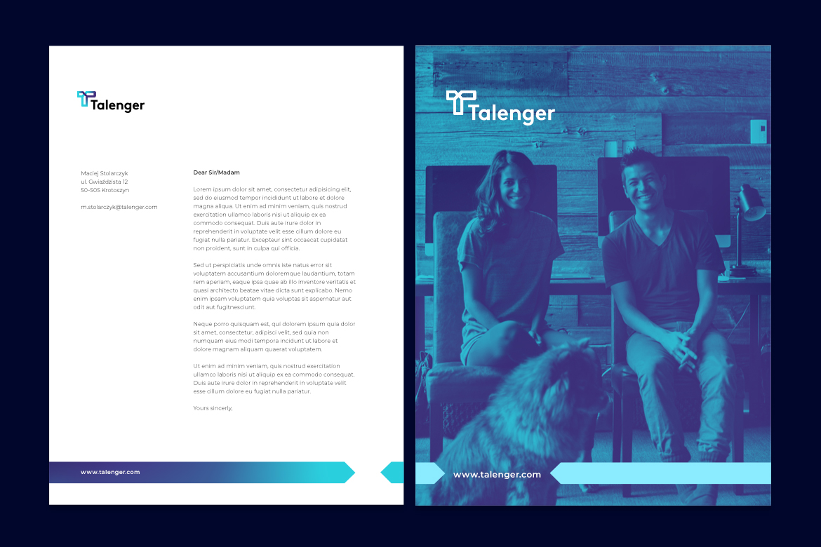 Talenger paper and brochure by Dawid Koniuszewski Design