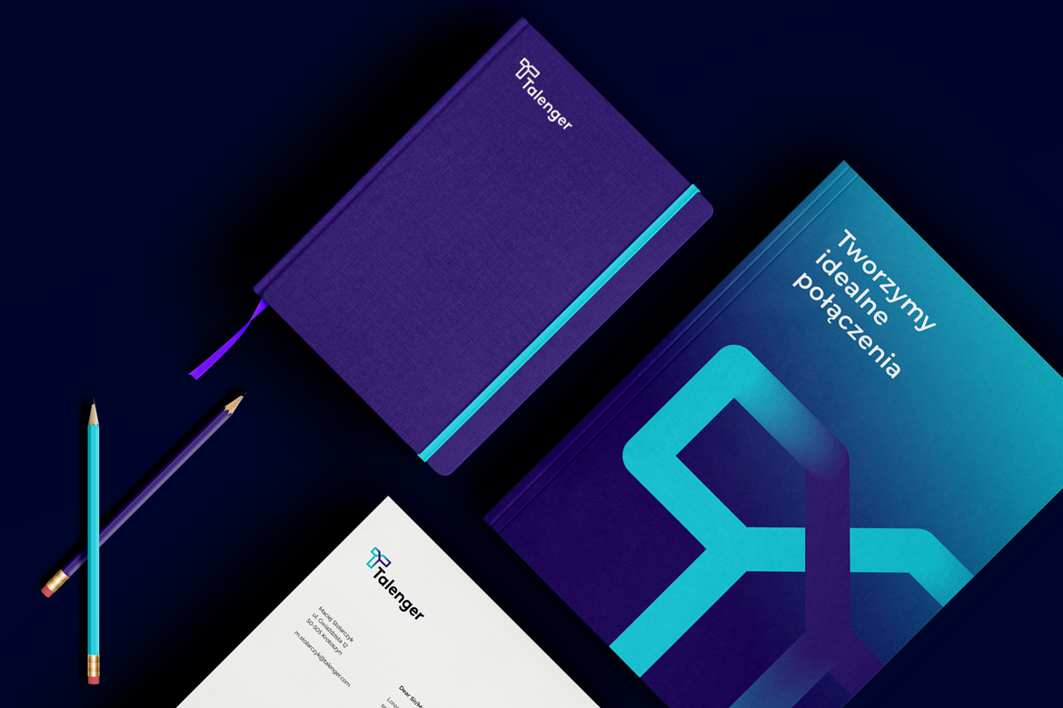 Talenger stationery by Dawid Koniuszewski Design