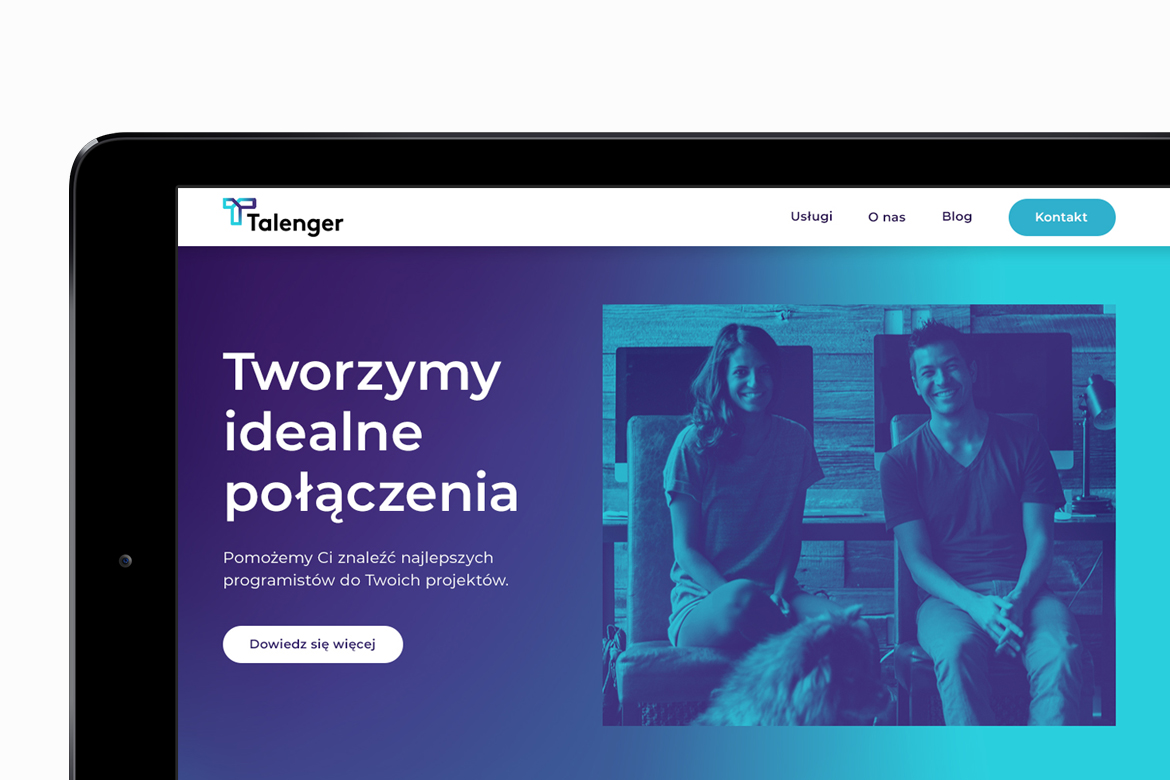 Talenger website by Dawid Koniuszewski Design