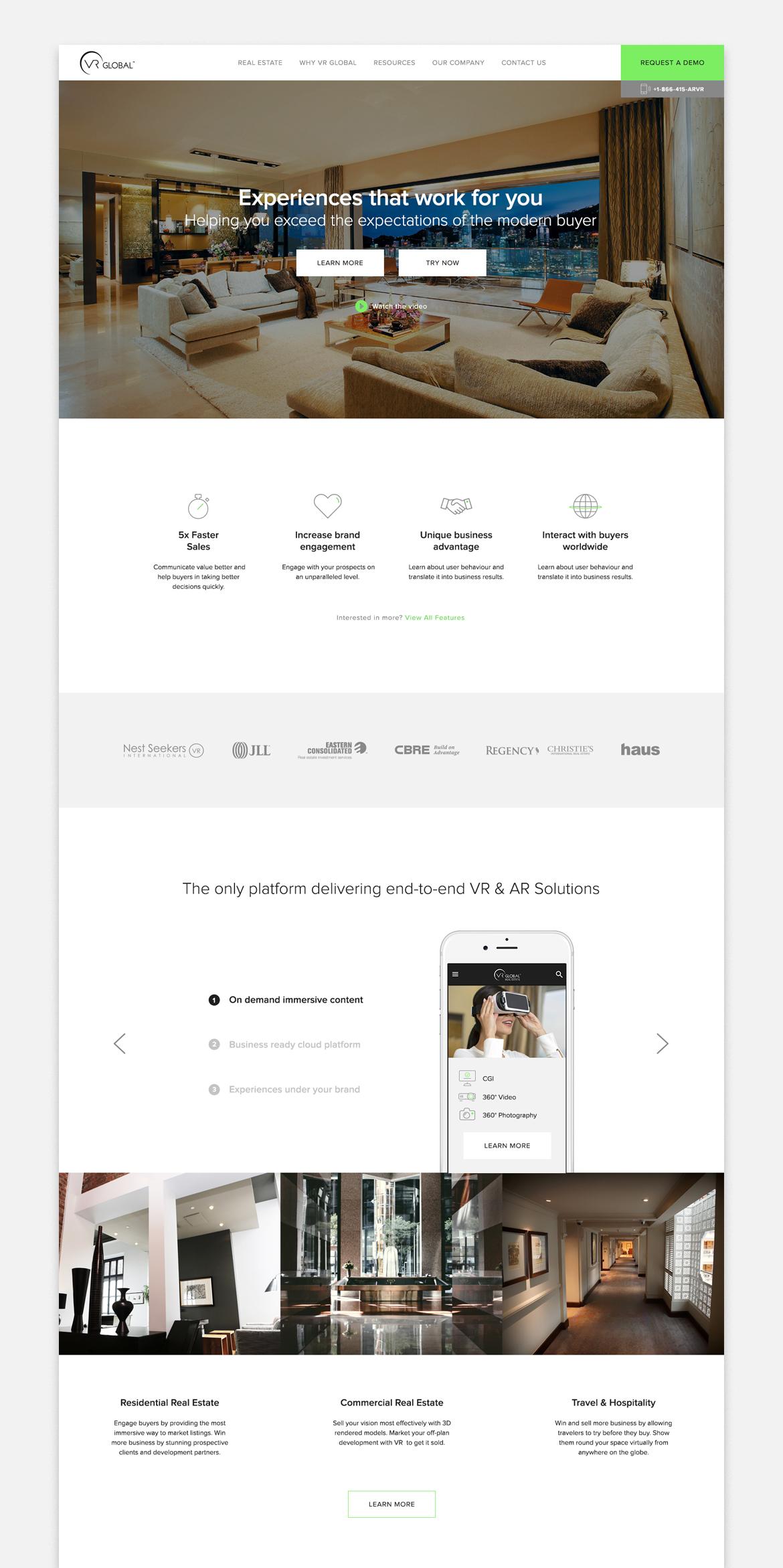 VR Global website by Dawid Koniuszewski Design